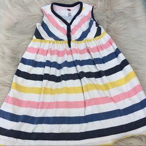 TEA Dress girls size 5 chevron cute pastels